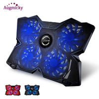 Professional game laptop Cooler Cooling Pad with LED 4 fans USB 2.0 Notebook stand Holder For macbook/Dell/Asus1415.6 17 inch