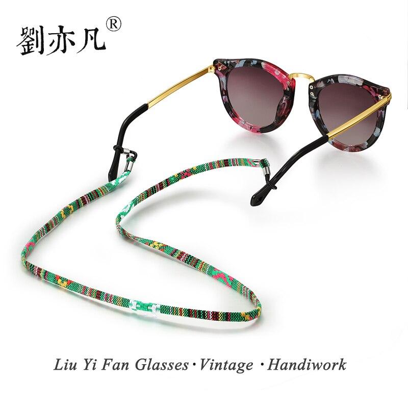Gratis Verzending Zonnebril Katoen Hals String Cord Retainer Strap Eyewear Lanyard Houder Met Goede Siliconen Loop 6 Kleuren Optie