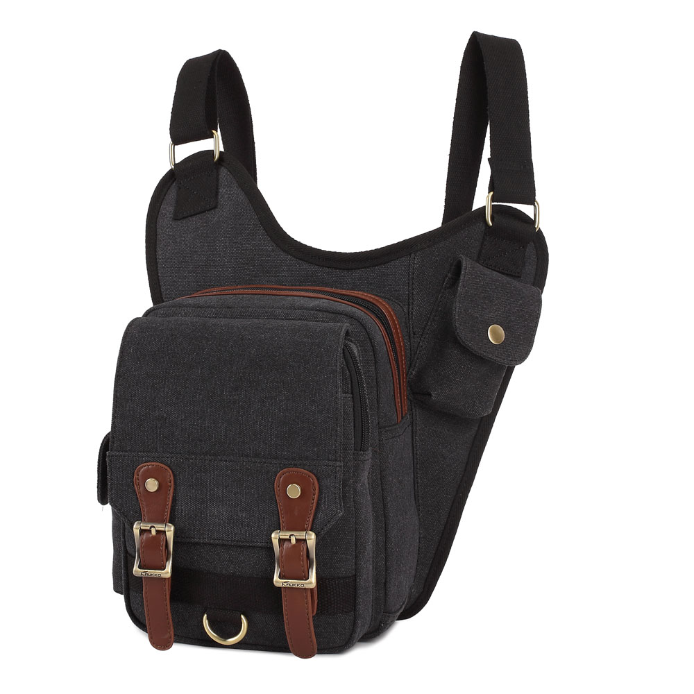 ФОТО Preppy Style Fashion Practical Outside Travel Canvas Men Shoulder Bags Multifunction Packs Durable Crossbody Bags