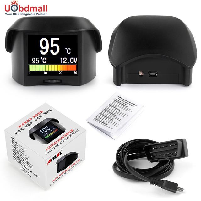 Ancel A202 Multi-Función Universal OBD Del Coche Voltaje Medidor Digital y Alarma de Temperatura Del Refrigerante Velocidad Fule Pantalla Digital