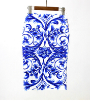 New Totem After The Split High Waist Half Skirt Printing In The Long Skirt Pack Hip