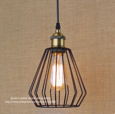 Retro Loft Style Industrial Vintage Metal Pendant Light For Living Room Dining Room,Pendant Light E27*1 Bulb Included,90V~260V loft style vintage industrial retro pendant lamps light e27 holder home restaurant bar counter attic bookstore for living room
