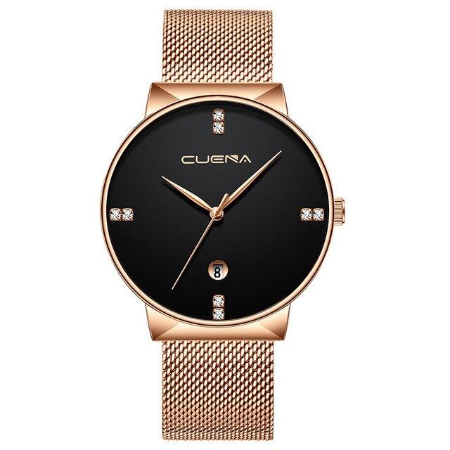 Luxury Ultra Thin Clock Male Steel Strap Casual Quartz Watch Men's Wrist Watch Sports Watches relogio masculino gift #1128