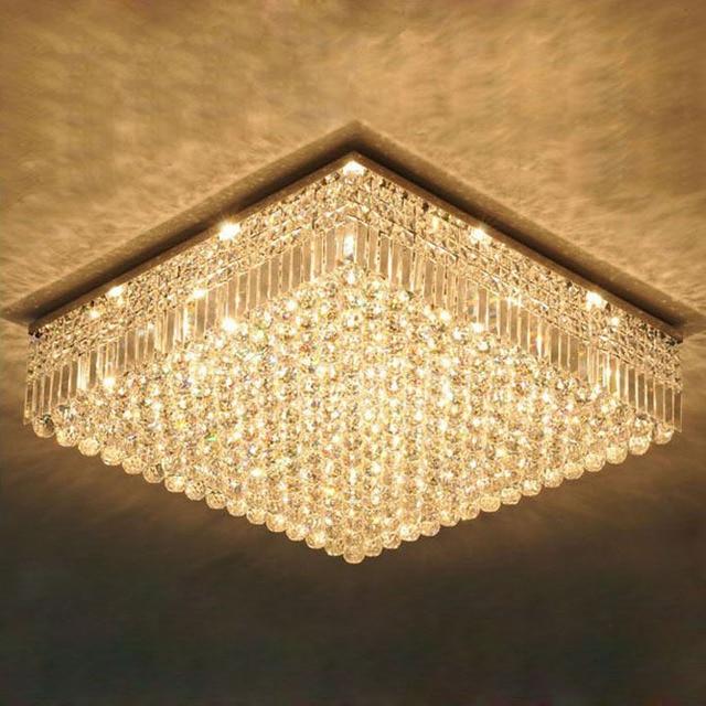 Led Lighting Embedded Installation K9 Crystal Chandelier Simple Modern Lamp Living Room
