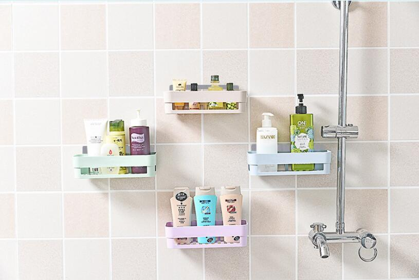 Bathroom Wall-mounted Shelf Storage Shelf Rack Storage Rack Corner Shower Shelf Storage Basket Wall Decoration