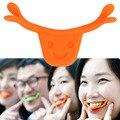 Nueva Sonrisa de Silicona Sonrisa Tirantes Línea Cara Boca Forma Los Músculos Estiramiento Brace Elevación Entrenamiento Entrenador Color Al Azar