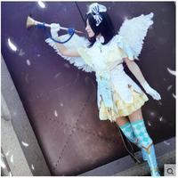 Love Live Nico Yazawa Cosplay Costume Angel Awaken Dress Free Shipping Socks Hat Gloves