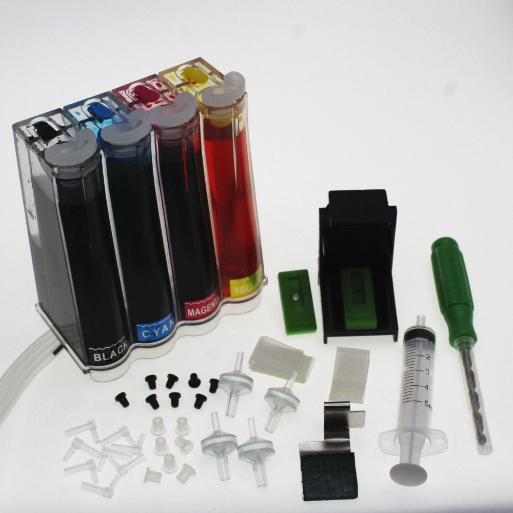 DIY CISS kit Continuous Ink Supply System For hp 301 CH563EE CH564EE cartridge Deskje 1000 1050 2000 2050 2510 3000 3054 printer франк и ред de quoi chantent les francais 50 chansons d or о чем поют французы 50 золотых французских песен