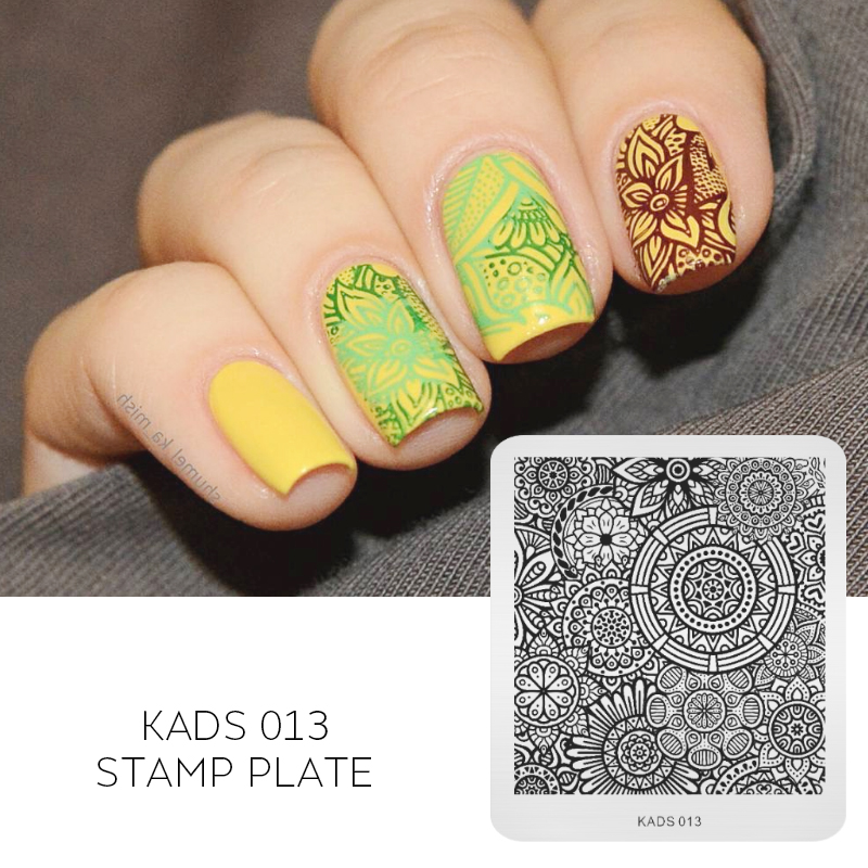 Kads New Hot Elegant Kaleidoscope Image Pretty Good Nail Art Stencils Stainless Steel Stamping Template Manicure Tools In Templates From