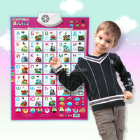 Ngôn ngữ nga Ngữ Âm Tường Treo Biểu Đồ learning toys, giáo dục cho trẻ em đa chức năng bảng chữ cái chữ tường bản đồ đồ chơi âm nhạc