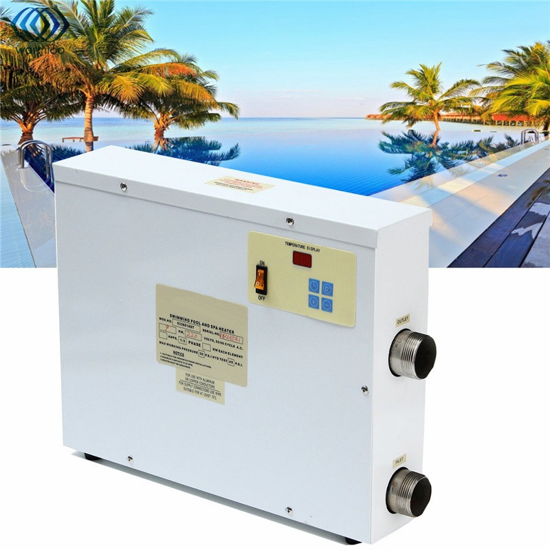 Swimming Pool Electrical Products : Electric water heater kw v digital thermostat swimming