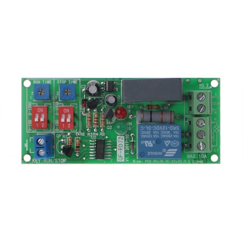 Cycle Delay Timing Timer Relay Switch Turn ON/OFF Module AC 110V 120V 220V 230V W315 high quality delay relay delay turn on delay turn off switch module with timer dc 12v