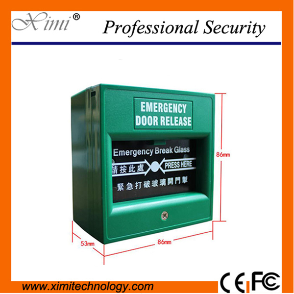 цена на Hot Sale Access Control Emergency Button Glass Switch Emergency Switch Green Switch
