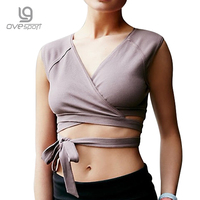 Ovesport Summer Ballet Yoga Tops Women Sexy Straps No Padded Comfortable Shirts Breathable Solid Fitness Tights Vest Sport Bras