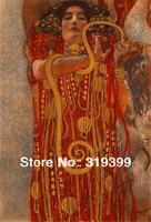 Peinture à l'huile reproduction sur Toile de Lin, Hygie (Détail de Médecine, Expédition Rapide Libre, 100% fait main, Museam Q.