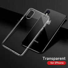 Ultra-thin Transparent TPU Phone Case For iPhone X XS Max XR 8 7 6 Plus 5S SE 4 Silicone Shockproof Protective Clear Back Cover w 1 0 3mm ultra thin protective pc back case cover for iphone 6 transparent grey