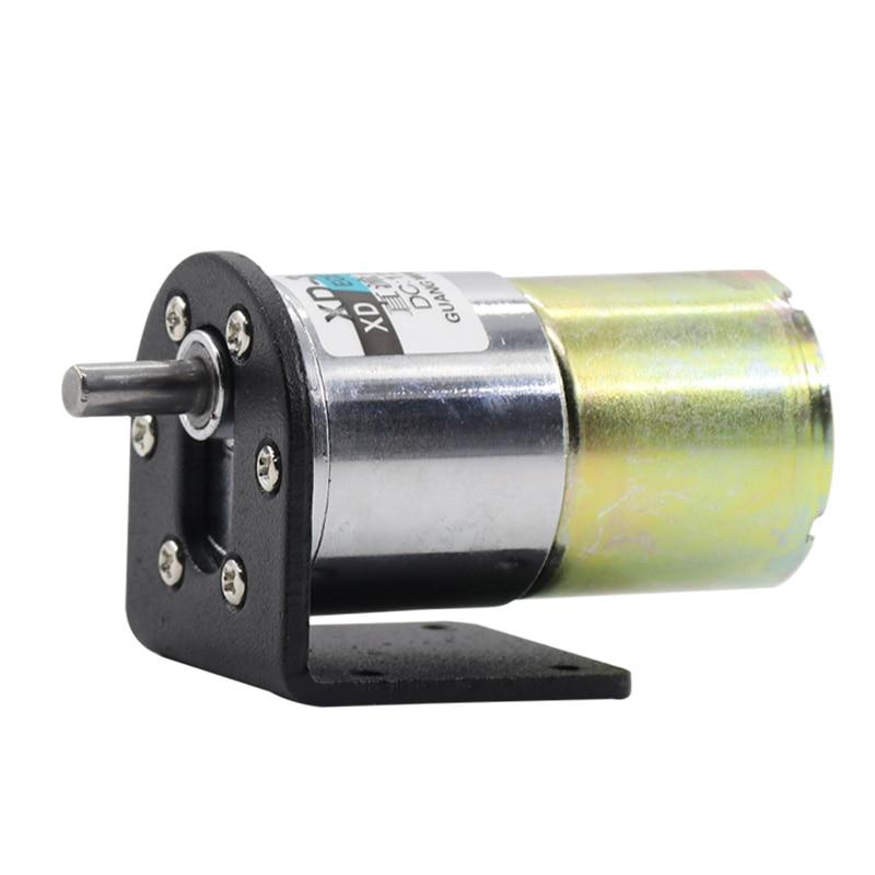 12v 5rpm DC12V//24V 35W Mini DC Gear Motor Metal Speed Adjustable Large Torque Motor CW//CCW