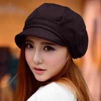 Women Berets Cap Autumn Winter Hat For Women Cotton Vintage Solid Colors Soft Beanie Hat Ladies
