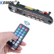 kebidu Wireless Bluetooth DC 5V 12V USB FM TF Radio MP3 Decoder Board Module Audio MP3 Player For Car Remote Music Speaker Phone
