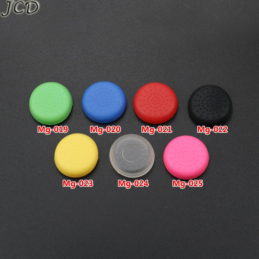 JCD 2pcs For PS4 Silicone Analog Thumb Grips Cover For Dualshock 4 PlayStation4 Controller TPU Joystick Caps