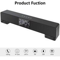 LED Despertador Temperature Humidity Electronic Desktop LED Alarm Clock Handsfree FM TF AUX USB Boombox Digital Table Clock