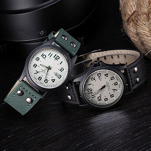 Esporte Exército Militar Relógios Moda Casual Relógio de Quartzo de Couro da marca Homens 2015 Novo Luxo Relógio de Pulso Analógico xfcs