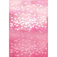 Custom Vinyl Cloth Pink Love Heart Shiny Bokeh Photography Backdrops For Newborn Wedding Photo Studio Portrait