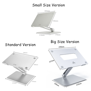 Image 5 - Notebook Stand Adjustable Angle Aluminum Alloy Free Lift Laptop Heighten Holder for Macbook Dell HP iPad Pro 7 17 inch