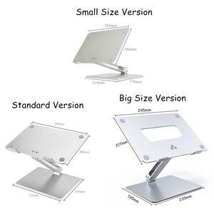 Image 5 - Soporte ajustable para Notebook, aleación de aluminio, elevador libre, para Macbook, Dell, HP, iPad Pro, 7 17 pulgadas