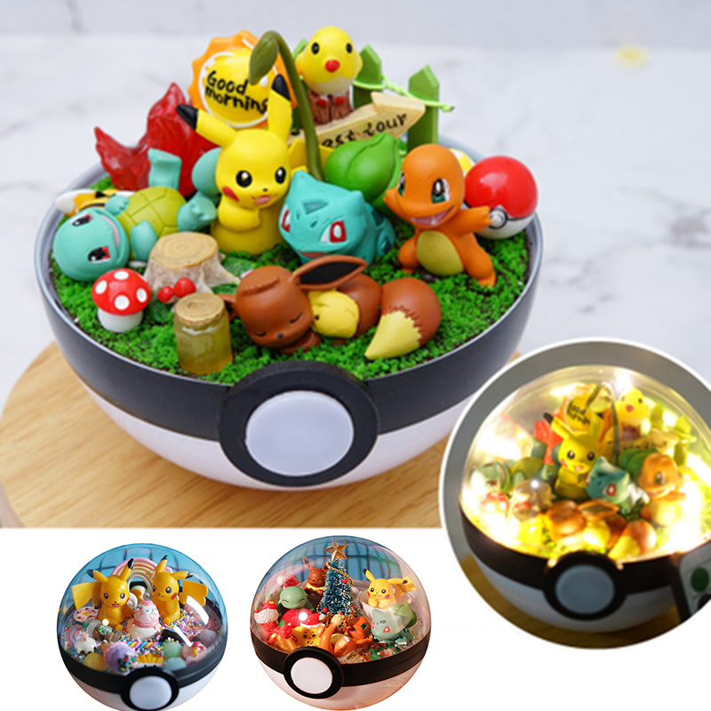 2019 New Anime Pokeball XY Figures Pikachu Bulbasaur handcraft DIY Figures Model Toys Brinquedos Collection Christmas Model Toy