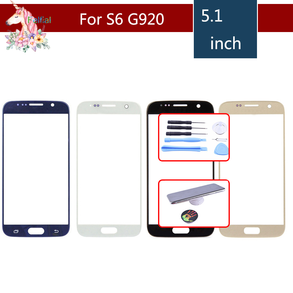 For <font><b>Samsung</b></font> <font><b>Galaxy</b></font> <font><b>S6</b></font> G920 G920F G9200 SM-G920 Front Outer <font><b>Glass</b></font> Lens Touch Screen Panel <font><b>Replacement</b></font> image