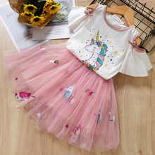 Girls Dress 2017 New Summer Style Kids Princess Dresses Children Clothing Red Short Sleeve Animal Print Design for Girls Clothes
