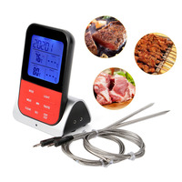 Wireless Digital Meat BBQ Thermometer Remote Cooking Tool For Oven Grill Smoker Kitchen TB Sale