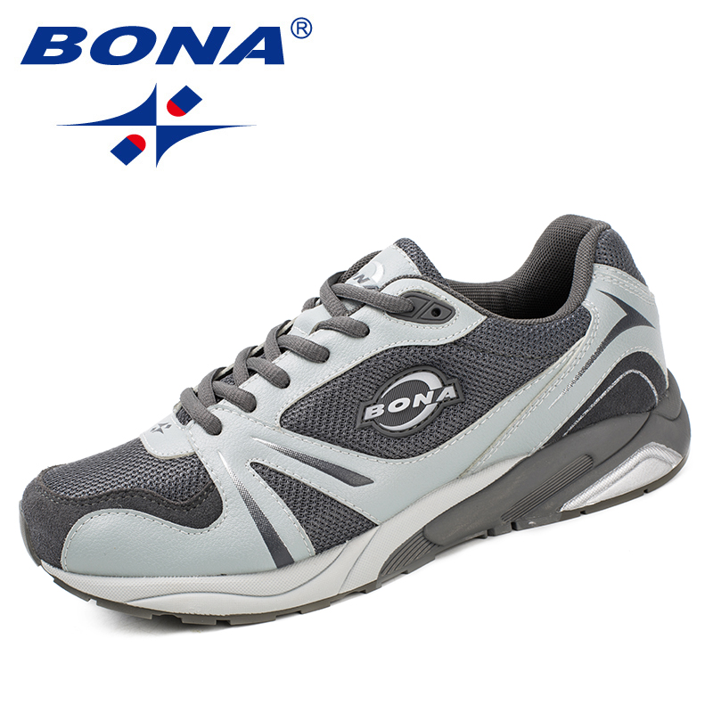 BONA Outdoor Sport Brand Men Light Running Shoes Lace Up Breathable Sneakers Damping Anti Collision Shoes Sneakers Free ShippingBONA Outdoor Sport Brand Men Light Running Shoes Lace Up Breathable Sneakers Damping Anti Collision Shoes Sneakers Free Shipping