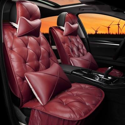 automotive car seat covers pu cushion set for Cadillac CTS CT6 SRX DeVille Escalade SLS ATS-L/XTS free shipping comfortable top