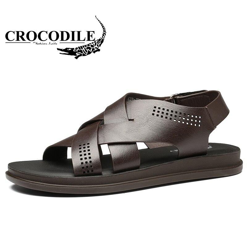 Крокодил на свежем воздухе летом сандалии для Для Мужчинs проветрить износостойкая мужская пляжная обувь мужской быстросохнущие путешест...