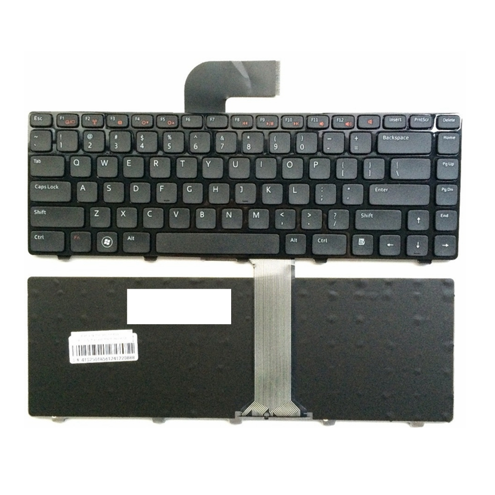 US Keyboard FOR DELL FOR  Inspiron 15R 5520 7520 0X38K3 65JY3 065JY3 Enginsh Black Laptop Keyboard With Frame
