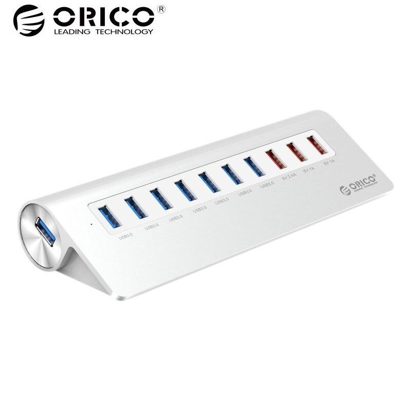 ORICO M3H73P 10 Porte USB HUB 7 Porte USB3.0 5 Gbps e 3 Porte USB di Ricarica per iPhone iPad