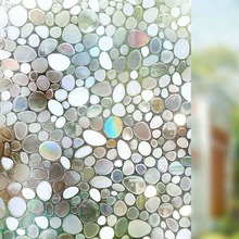3D stone Window Film electrostatic Glass Sticker Stained Frosted Opaque Cobblestone Privacy home decorative Self-adhesive film