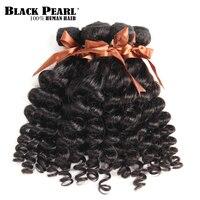 Blackpearl Fumi Curly Hair 3 Bundles 95g/Piece Brazilian Hair Weaving 100% Non Remy Human Hair Bundles Natural Color