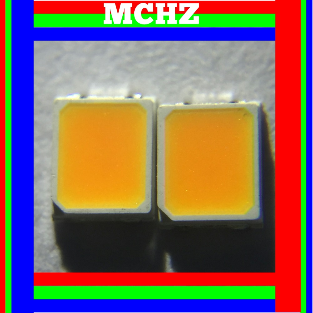 800pcs/lot SMD <font><b>LED</b></font> <font><b>2835</b></font> lamp beads highlight 0.5W 3V-3.6V orange amber light-emitting diode 1800K image