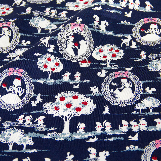 50cm 110cm Anese Kokka Oxford Cotton Fabric Patchwork Quilting Snow White C