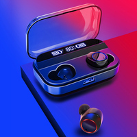 X11 TWS Bluetooth 5.0 Earphone 8D Setreo Wireless Earphones Auto Pair Waterproof Touch Control Mini Headset with LED Power Bank
