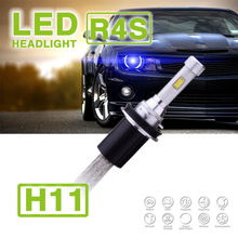 1 Set 90W 10400LM R4S LED Headlight Slim Conversion Kit 45W 5200LM H1 H4 H7 H8