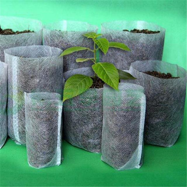 Nursery Pots Seedling-Raising Bags 8*10cm fabrics Garden Supplies Environmental Protection Full 8*10 Size 100pcs-pack