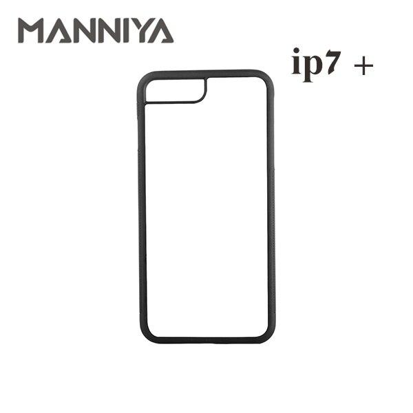 MANNIYA Best Blank Sublimation Gummihülle für iPhone 7 plus 8 plus - Handy-Zubehör und Ersatzteile
