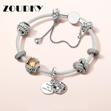 3b02ed720 2018 New 100% 925 Sterling Silver Mesh Bracelet Set Heart-Shaped Bella Charm  Fit