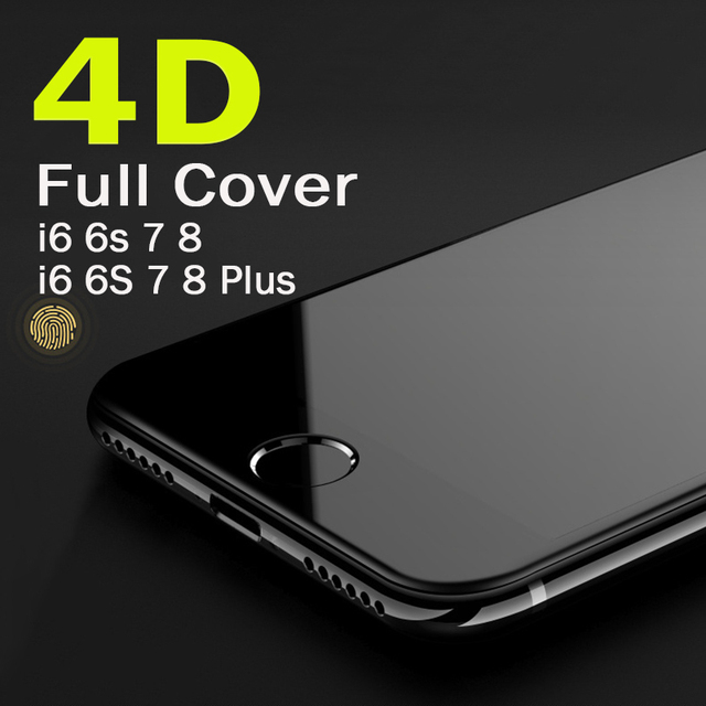 finest selection 3c92f e493a US $3.21 |Real 4D Round edge Full Cover Explosion proof Tempered Glass for  iPhone 6 6 Plus Glass Screen Protector for iPhone 7 7 Plus film-in Phone ...