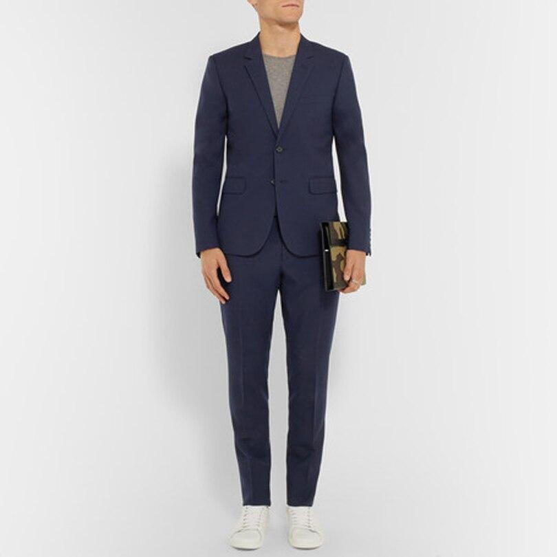 עסקי Mens באיכות גבוהה ללבוש רשמי אחת חזה דש מחורצים חליפות שלושה כיסים בוקר שתי חליפות חתיכות (מעיל + מכנסיים)