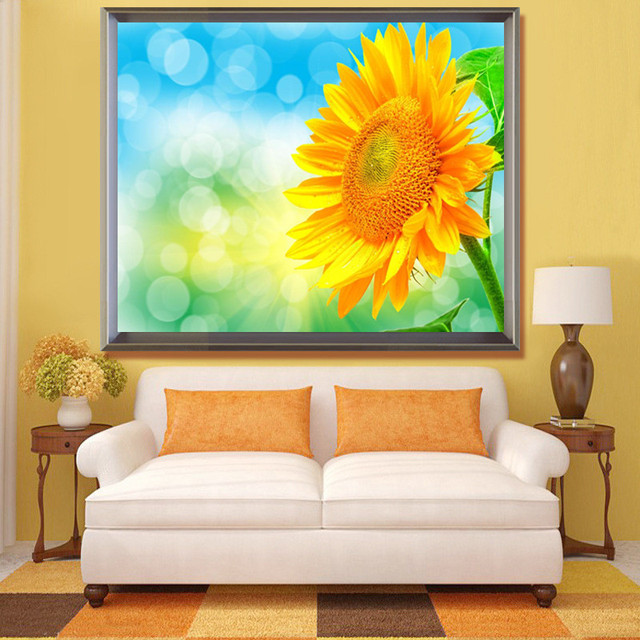 New 5D full diamond embroidery Sunflower mosaic image diy diamond ...